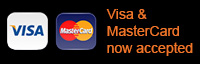 Visa and MasterCard now accepted